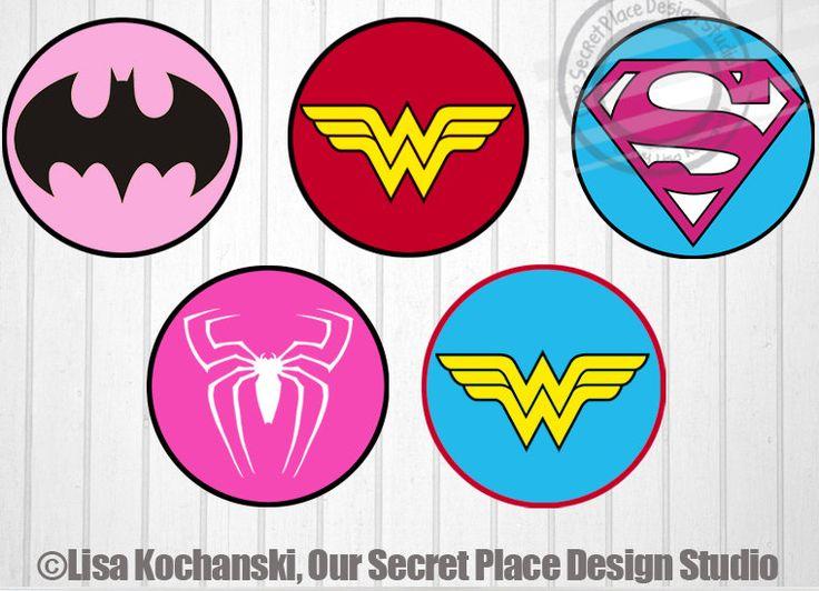 Superhero Symbol | Girl Superhero Logo Stickers Superhero Girl by OurSecretPlace