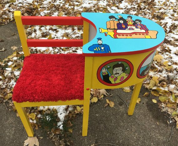 Yellow Submarine Telephone Table Beatles by DebbieIsAdopted