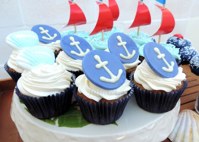 cupcakes con anclas