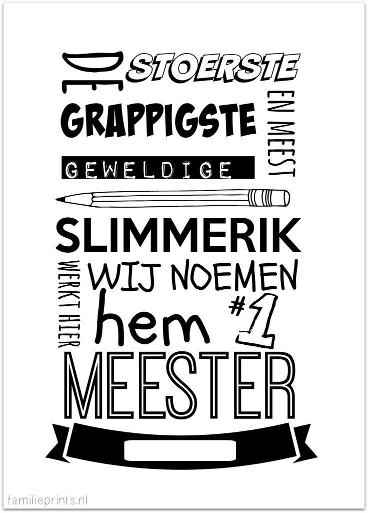 printable meester