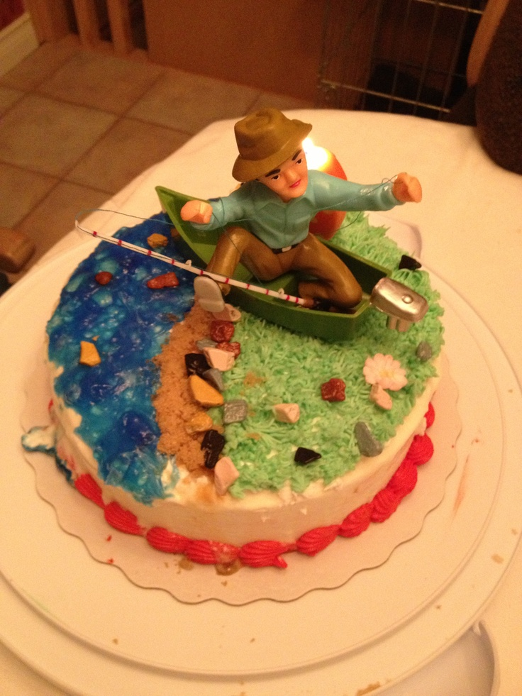 Ice cream fishing cake