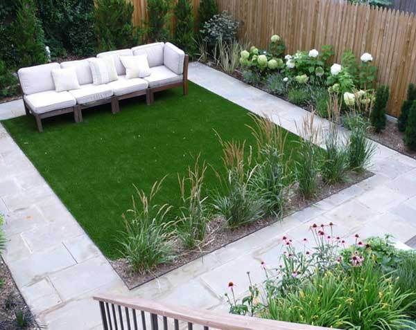 like the border plants with the white concrete and fake grass Would moss creep naturally?
