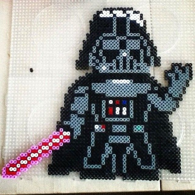 Darth Vader - Star Wars perler beads by The Lonely Phantump