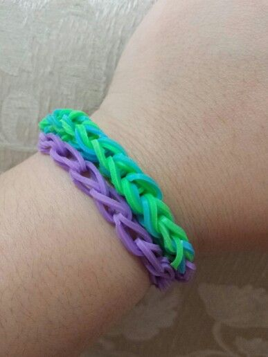 Simple chain link double-wrapped
