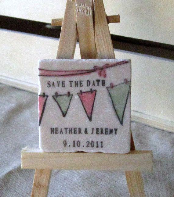 Save the Date magneten gunsten - gepersonaliseerde Bunting huwelijksgunsten - partij - verjaardag Keepsakes - Set van 25