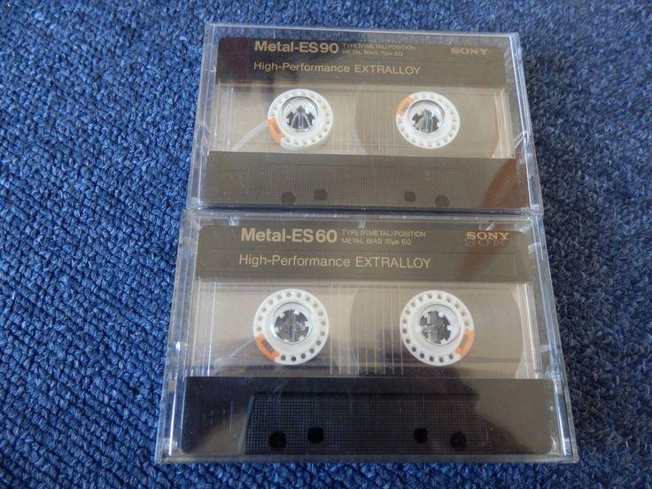 2x Sony Metal-ES 60 & 90. Reineisen Typ IV Metall. Guter Zustand!