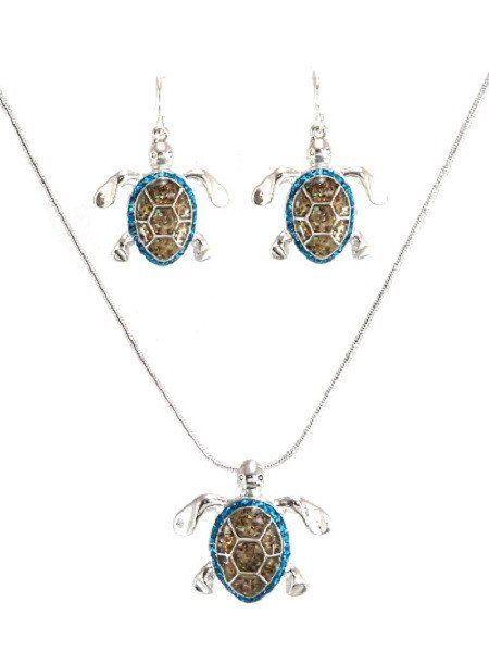 Sea #Turtle #Necklace and #Earrings #Set #Pizazzstudios #Jewelry #Sealife