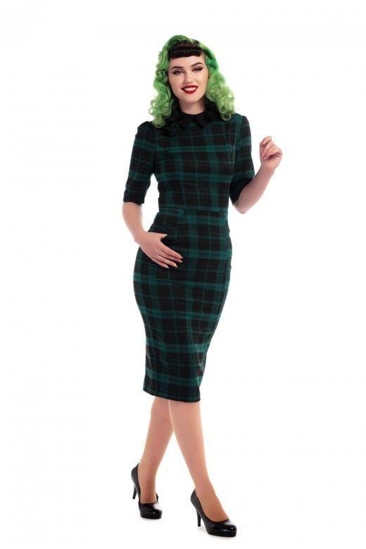 b87da8e69158 Collectif Mainline Winona Slither Check Pencil Dress | christmas ...