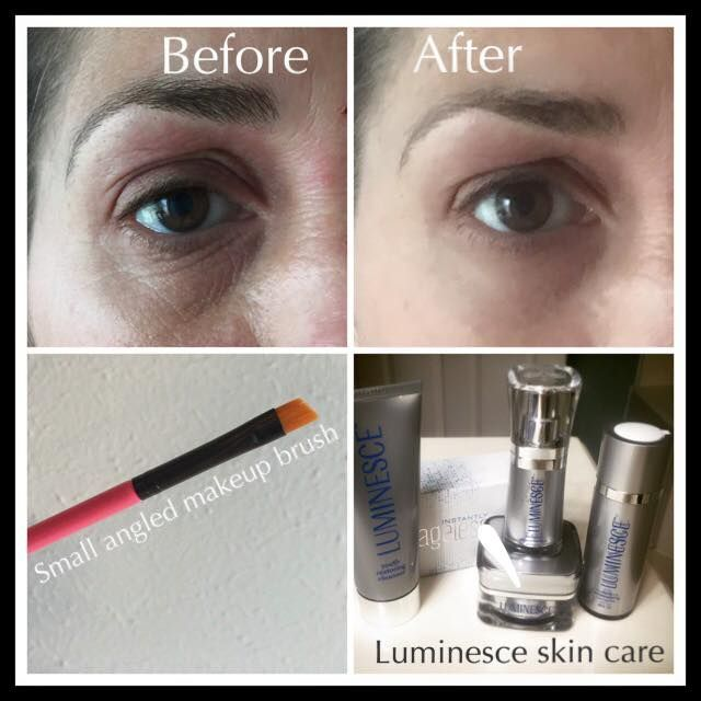 How to Apply Instantly Ageless with a Brush - Before and After pictures. http://www.hfenton.jeunesseglobal.com  #jeunesseglobal #jeunesse #instantlyageless