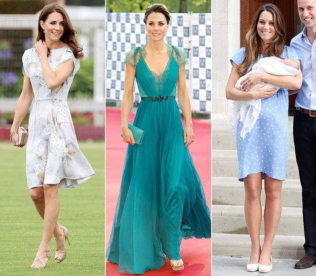 From gala dinners to the birth of her baby boy, Kate Middleton has selected British designer Jenny Packham's feminine and sophisticated designs