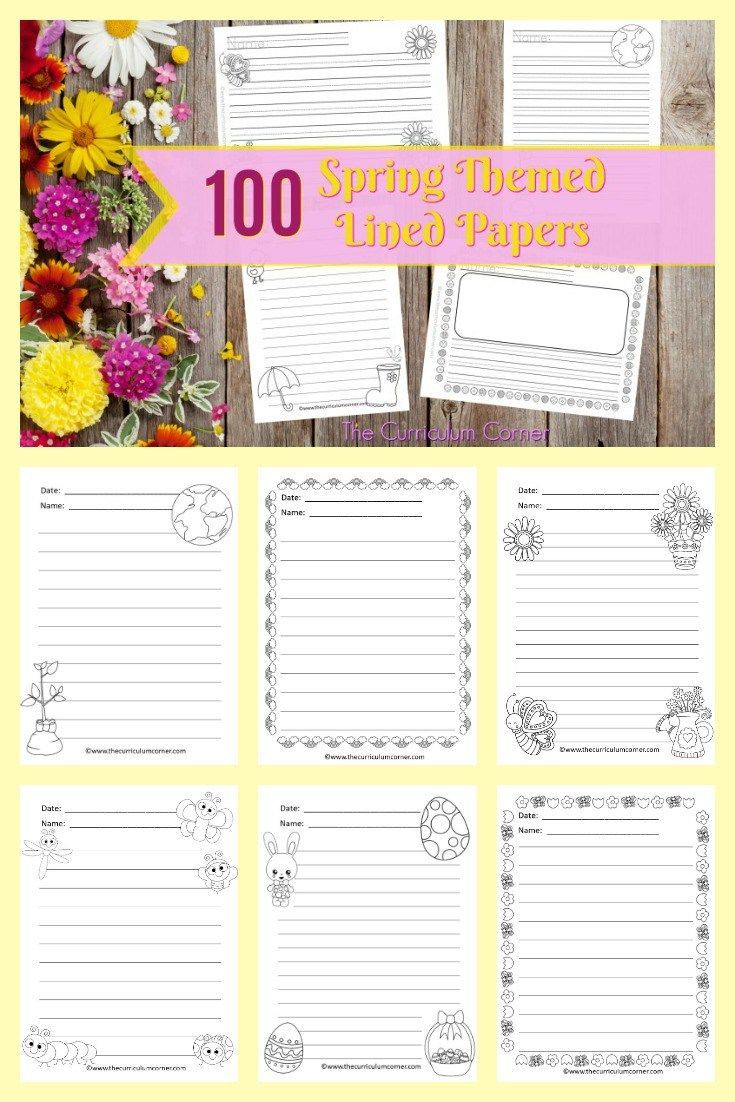Spring Lined Papers | Pinterest | Math, Learn math and Math help online