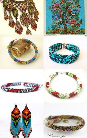 Beautiful Beads by Victoria Rainbow on Etsy--Pinned with TreasuryPin.com
