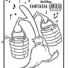 sorcerer mickey mouse coloring pages   FANTASIA coloring pages - Fantasia MAGIC MICKEY MOUSE ...