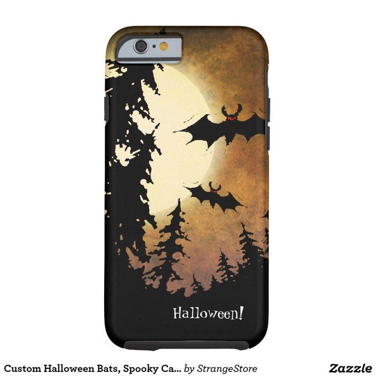 Custom Halloween Bats, Spooky Castle and Full Moon Tough iPhone 6 Case