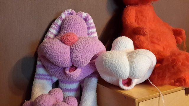 Revelry: nalake's Cal Bunny Dude 121 Rabbit dude crochet pattern from LittleOwlsHut  was used to make this guy.