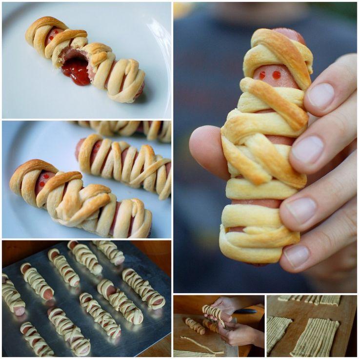 Do It Yourself: Hot Dog Mummies #Food