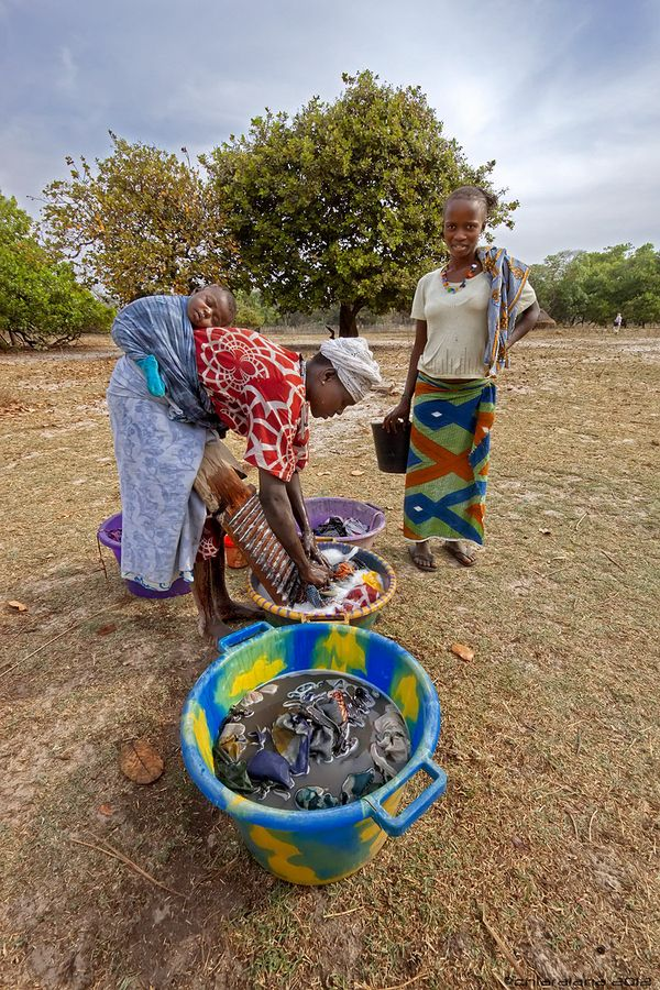 Washing Time in Guinea Bissau