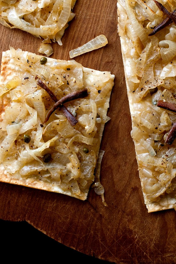 NYT Cooking: This is inspired by the Provençal onion pizza called pissaladière. Omit the anchovies if you're watching your sodium intake or you're just not a fan.