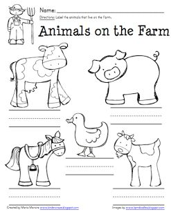 preschool farm worksheets | Click to image to grab your freebie and have a WONDERFUL day!
