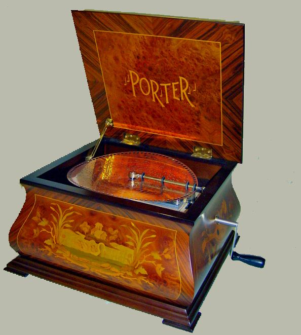 Porter Music Boxes of Randolph, Vermont are the finest makers of traditional disc music boxes today.