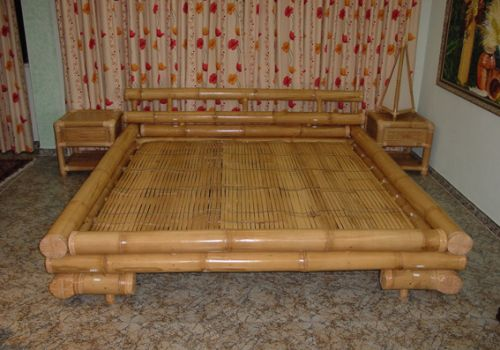 Cama de bambu...