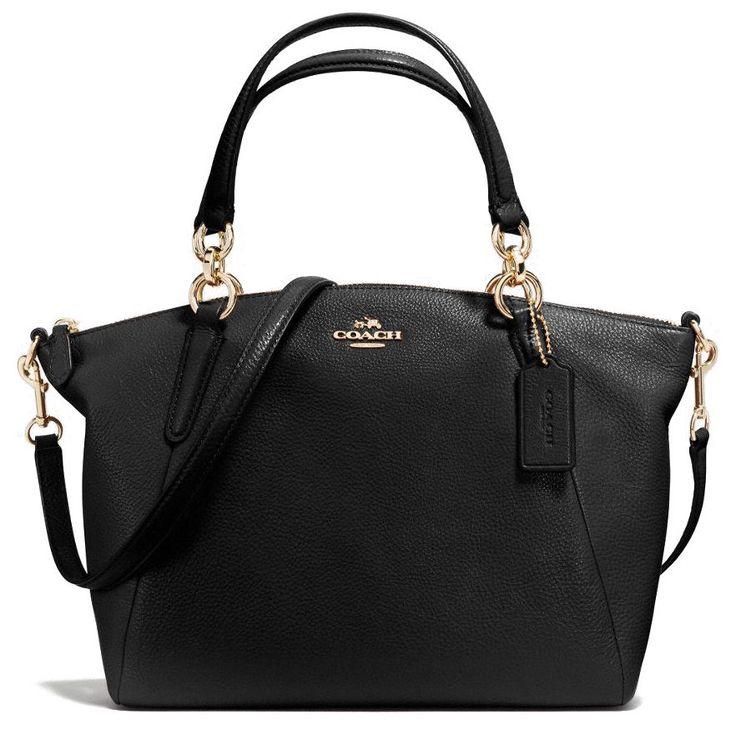 f8107ac28b7e ... COACH F36675 Small Kelsey Black Leather Satchel 139.95 .
