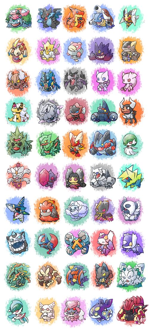 Pokémon Mega Evolutions - Too Kawaii!