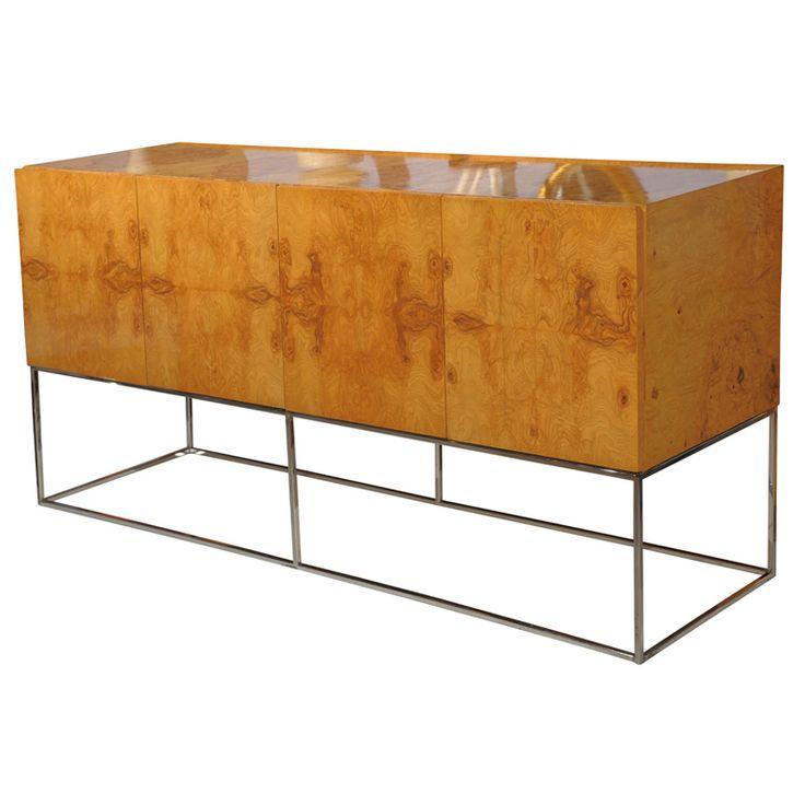 milo baughman furniture. milo baughman burl wood sideboard furniture a