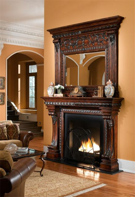251 best indoor fireplace ideas images on pinterest for Victorian corner fireplace