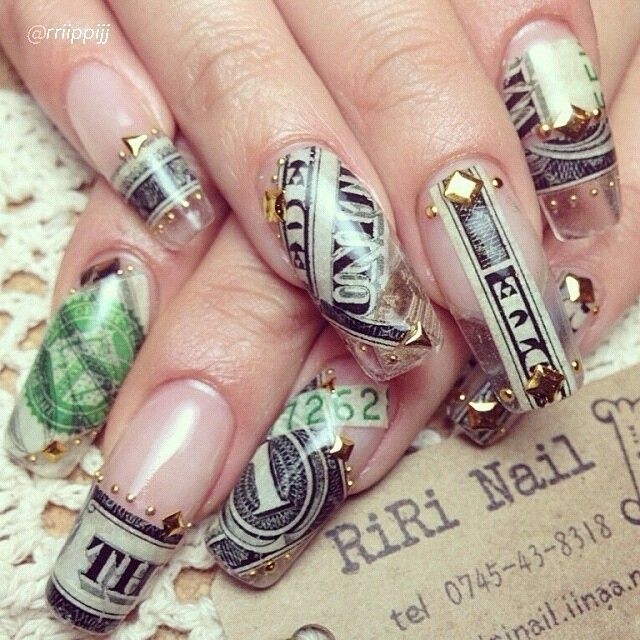 25 best dollar bill nails images on pinterest fingernail designs pinterest dreamerdrea prinsesfo Images