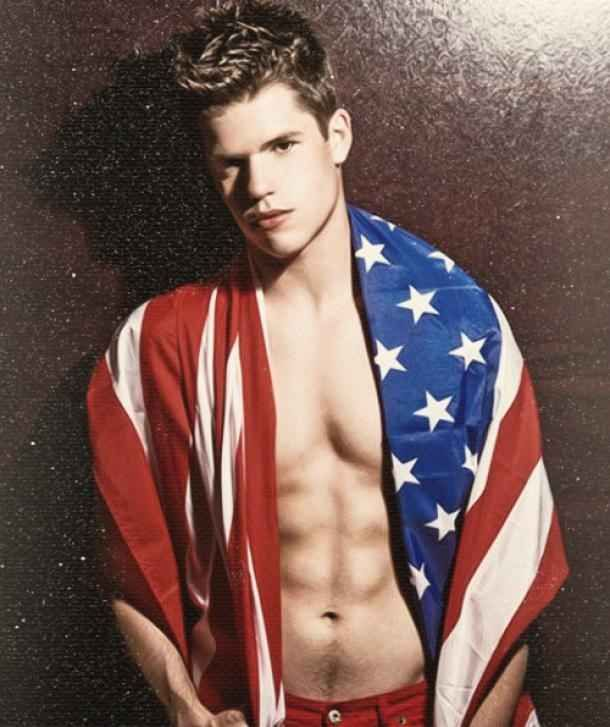 And they look nice wrapped in the American flag. | Max And Charlie Carver Are Basically The Hottest Twins On TV