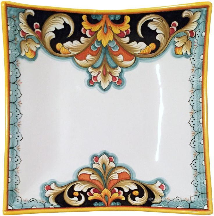 Elegant Curved Serving Plate - D208 style - 28cm x 28cm (11 inches x 11 inches)