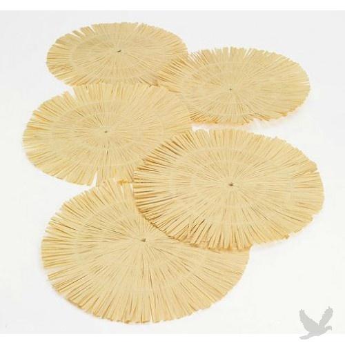 round luau fringe placemats