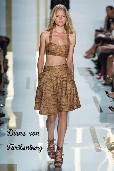 Diane von Furstenberg (Crop Top Trend) #runway #fashion #catwalk #croptop #style #womensstyle #womensfashion #womensoutfits