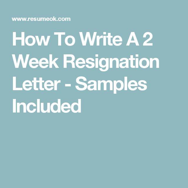 Ms De  Ideas Increbles Sobre How To Write A Resignation Letter