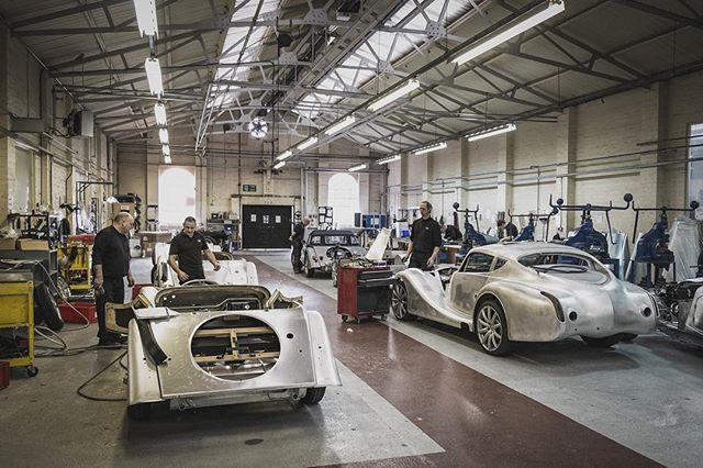 The Assembly Shop, this is where our highly skilled craftsmen turn flat sheets of aluminium into beautiful Morgan sports cars #Morgan #MorganCars #InsideMorgan #MadeGreatInBritain