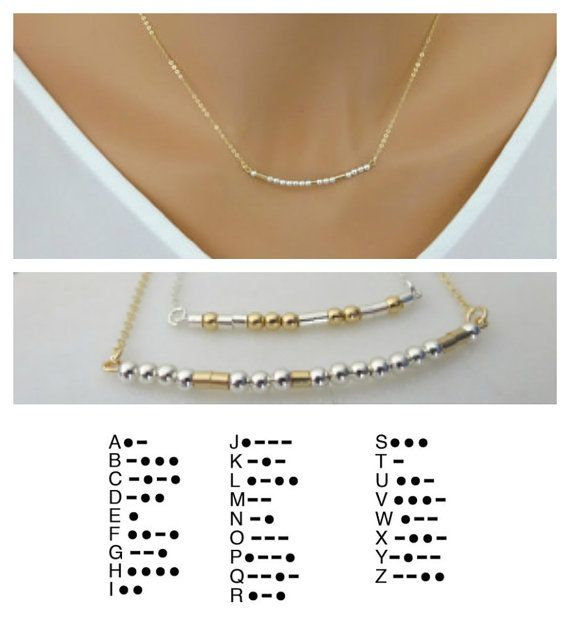 Custom Morse Code Necklace, Personalized name necklace, Gold fill, Sterling silver dainty necklace, Simple and elegant necklace. I only use high quality made in USA chain and findings. Beautiful bridesmaid gift. This beautiful and delicate necklace is the perfect layering necklace or beautiful on its own.  MORSE-CODE-NECKLACE:  - 14 K gold fill chain or Sterling silver chain - This listing is for the one necklace  Length: -Shown at 17pic1 - Made to order at the length you choose  CUSTOMIZING…