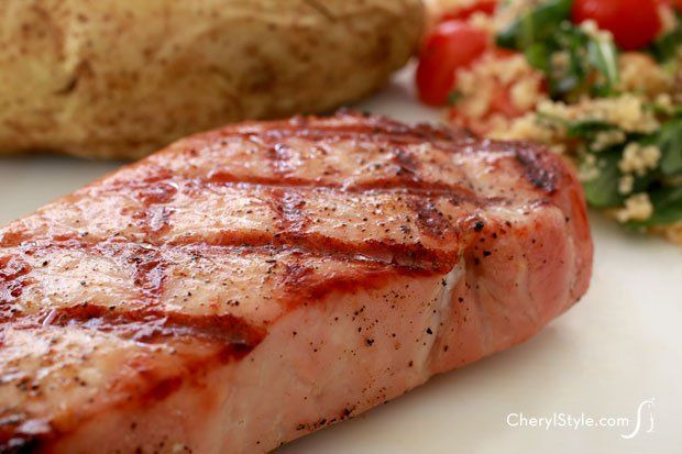 How to make thick and juicy pork chops on the grill - CherylStyle
