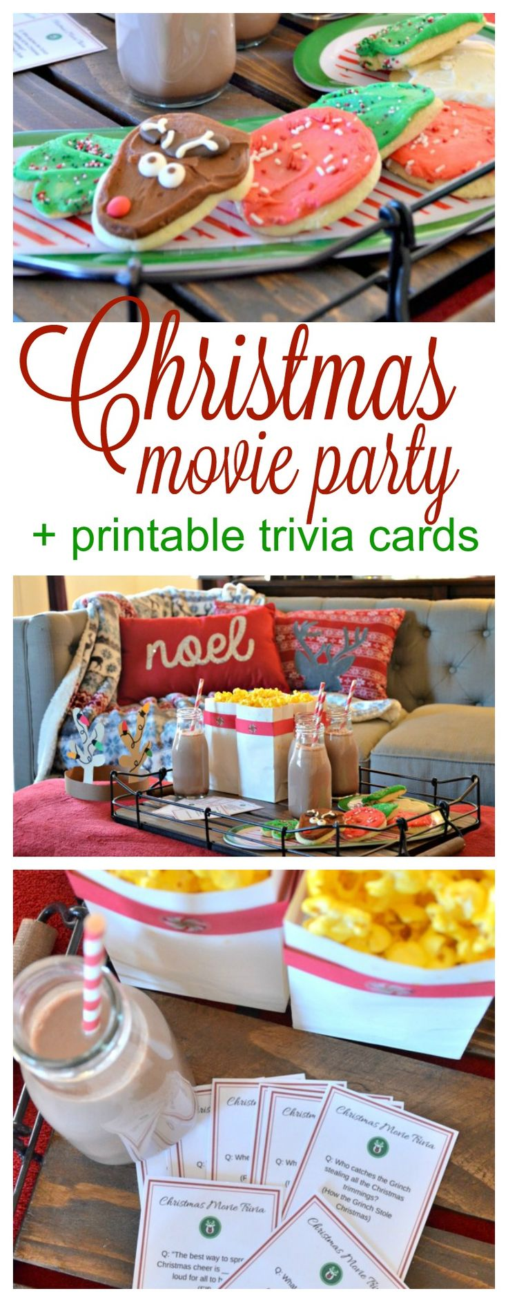 Christmas Movie Night + FREE Printable Movie Trivia Cards!