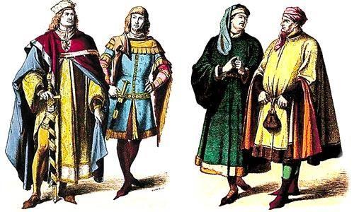 Костюмы франции 12 века