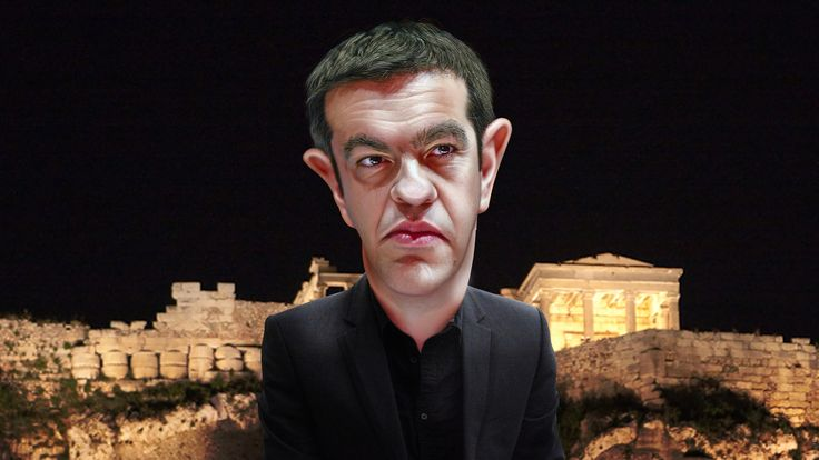 https://flic.kr/p/vwGhym | Alexis Tsipras - Caricature | Alexis Tsipras is Prime Minister of Greece and leader of Syriza.    This caricature of Alexis Tsipras was adapted from a Creative Commons licensed photo by Olaf Kosinsky  available via Wikimedia. The body was adapted from a Creative Commons licensed photo from Robert Scoble's Flickr photostream.The background was from a Creative Commons licensed photo from Brian Jeffery Beggerly's Flickr photostream.