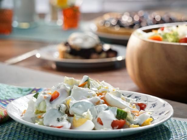 Retro recipe. Chopped Iceberg Salad with Roquefort Dressing Recipe from Food Network