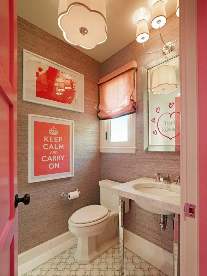 75 best pink/grey vintage bathrooms images on pinterest | room