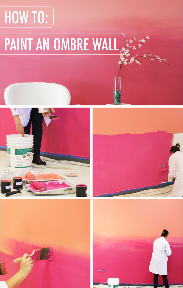 How To Paint An Ombre Wall Ombre Painted Walls Ombre