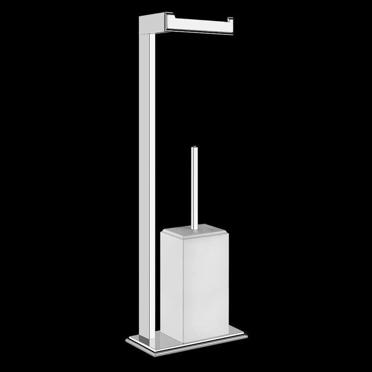 Gessi Eleganza Toilet Roll & Brush Holder #bathrooms #bathroomaccessories