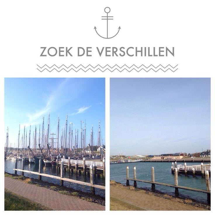Zoek de verschillen - jachthaven Vlieland zomer & winter