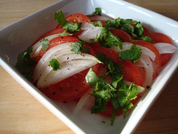 Chilean Salad (no coriander? try cumin!)