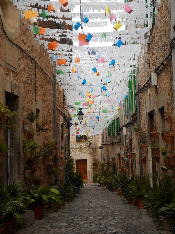 "The village of Valldemossa in Mallorca, Spain.Just days after the ""Festes de la Beata"" celebrating Saint Catalina."
