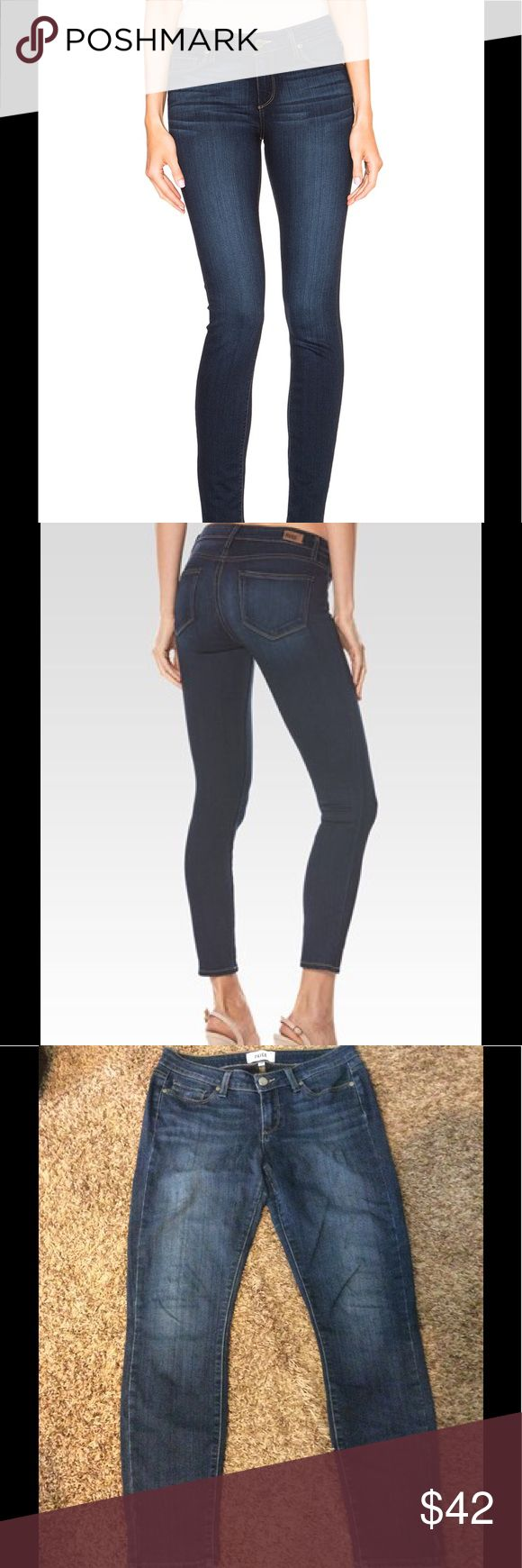 """Sale❗️Paige Verdugo Ankle Jeans Great jeans! Nice stretch and perfect for any occasion. Rayon, cotton, polyester and spandex. Waist measures 30"""" laying flat. 28"""" inseam. Crotch of pants is starting to thin, but still in great condition. Paige Jeans Jeans Ankle & Cropped"""