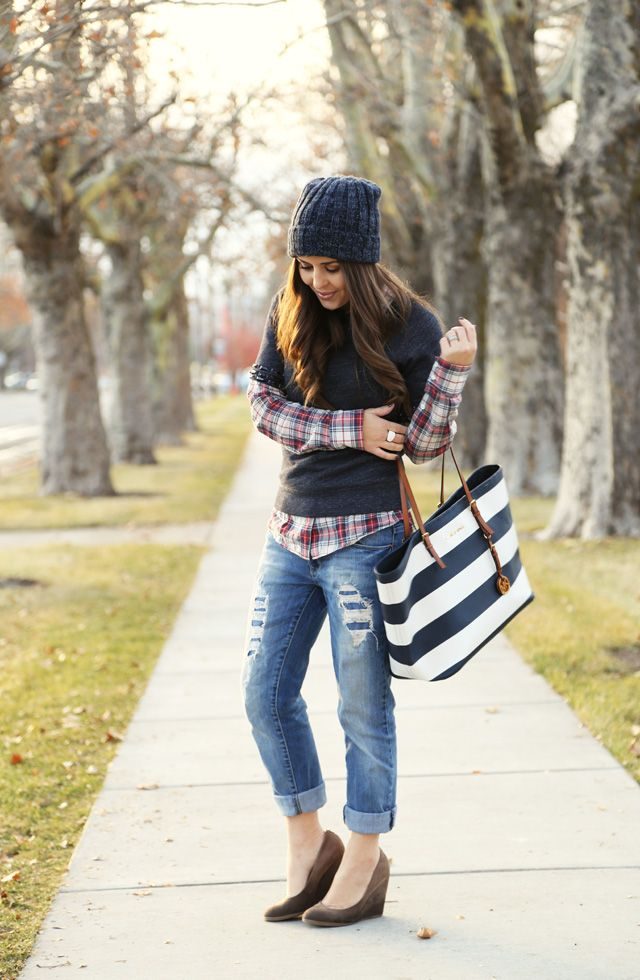1000 images about plaid on pinterest for Plaid shirt under sweater